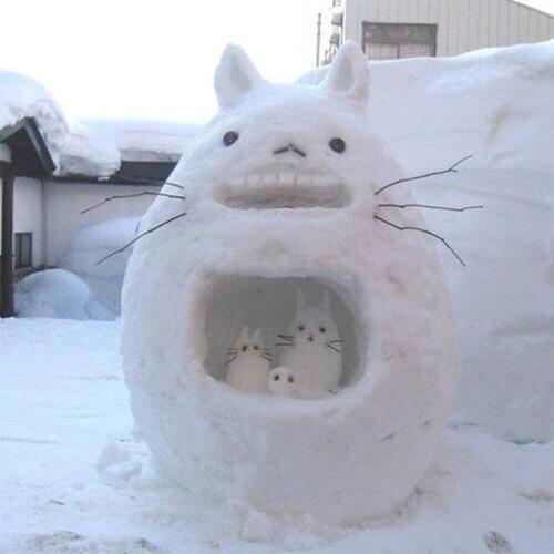 面白い雪だるまの画像(28枚目)