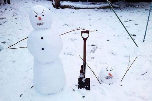 面白い雪だるまの画像(14枚目)