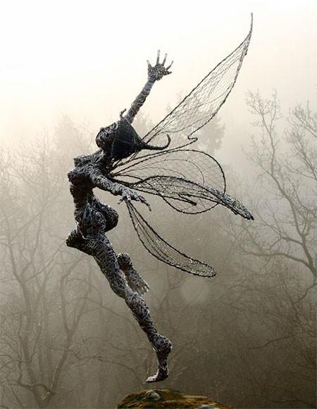 【画像】生きてるみたい!針金で再現された妖精が凄い!!の画像(8枚目)