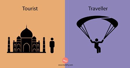 「観光客」vs「旅行者」の比較画像が分りやすい!!の画像(4枚目)