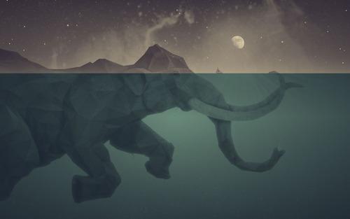 幻想的でドキドキする超巨大生物の壁紙!の画像(4枚目)