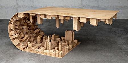 【画像】大きな街を再現したテーブルが凄い!!の画像(1枚目)