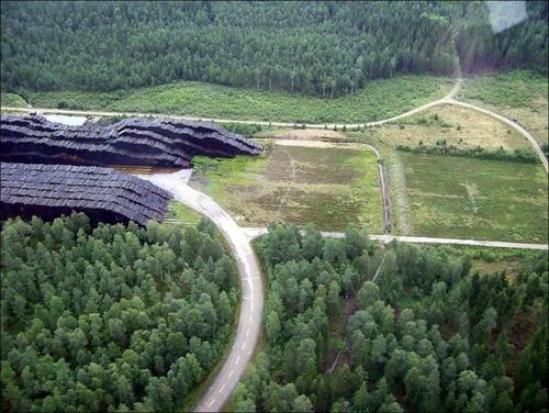 スウェーデンの丸太置場の画像(3枚目)