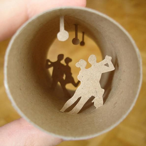 【面白アート】トイレットペーパーの芯で作る不思議な世界!の画像(14枚目)