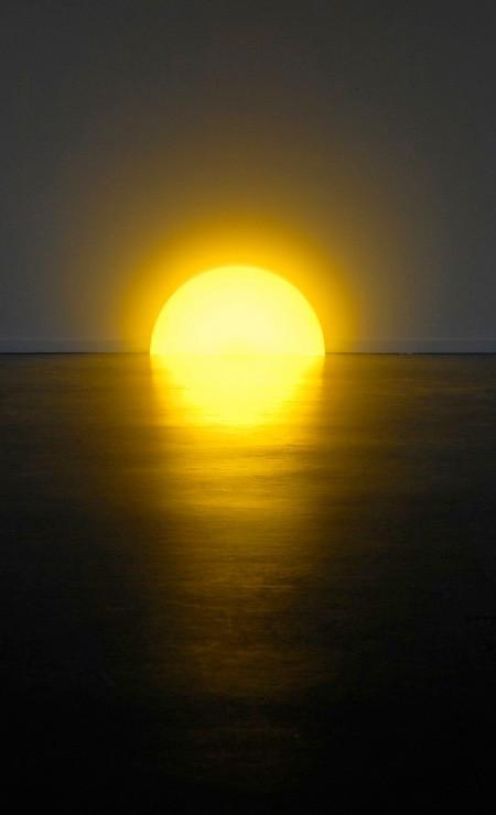 夕日に見える、サンセットランプ04