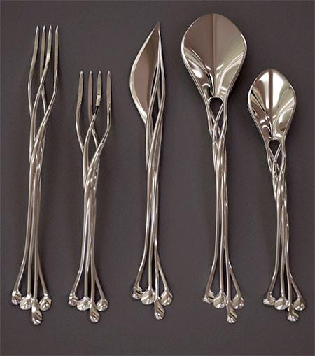 【画像】新技術!3Dプリンターで作った銀製のナイフやフォークが凄い!!の画像(2枚目)