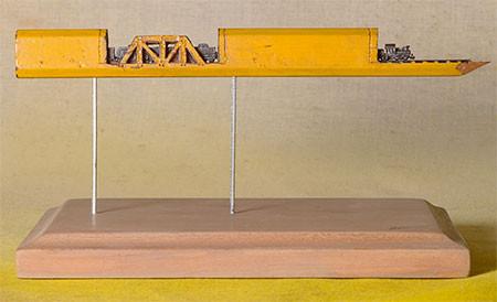 画像】鉄道模型のように鉛筆を加工したアートが凄い!!の画像(6枚目)