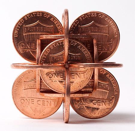 【画像】もったいないけど凄い!コインを使った面白アート!の画像(3枚目)