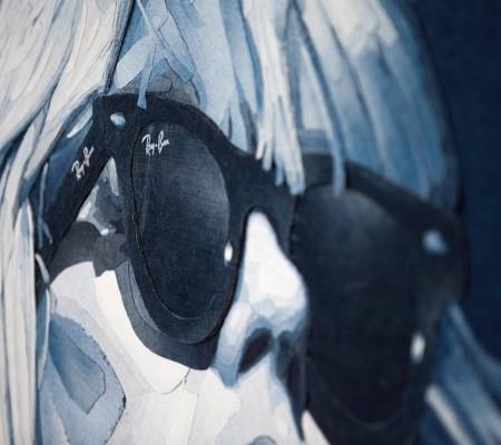 デニムで描いた風景画06