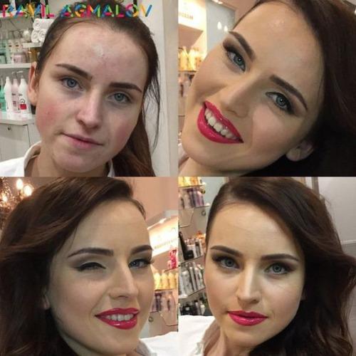 女性の化粧前、化粧後の画像の数々_19
