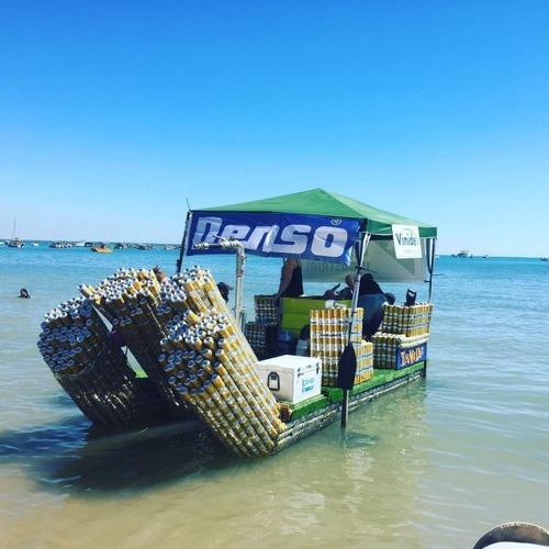 ビールの缶でボートを作って競争の画像(2枚目)