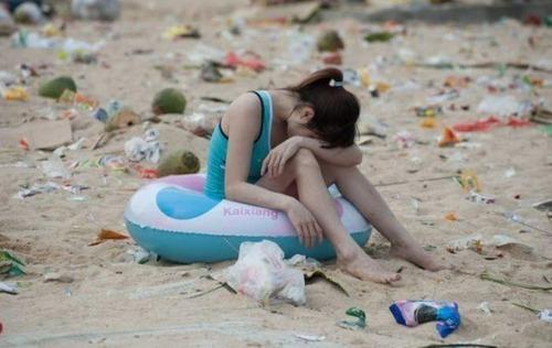 中国の海水浴場の画像(4枚目)