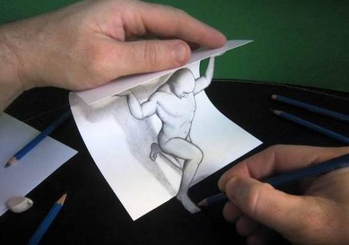 紙で作った3Dアートの画像(5枚目)
