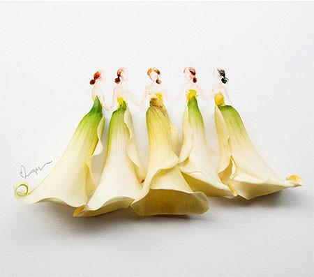 本物の花で描いたアートが華やかで癒される!!の画像(7枚目)