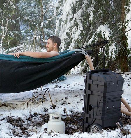 どこでも温泉気分!軽量!簡単!野外で使える移動式のお風呂セットwwwの画像(7枚目)