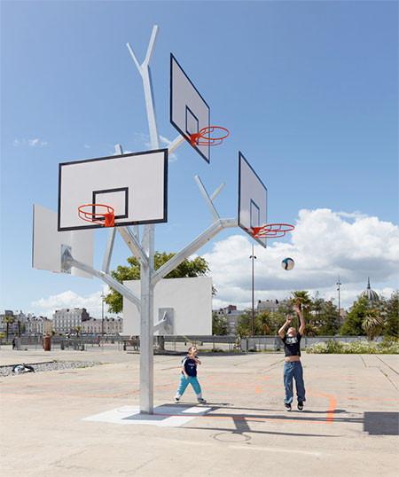 バスケットゴールの木01