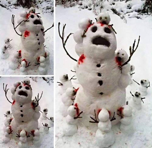面白い雪だるまの画像(46枚目)