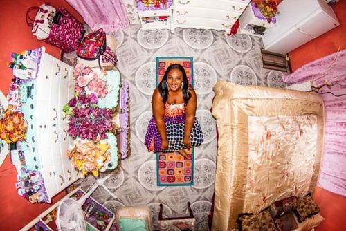 世界各国の人達のベッドルームの画像(6枚目)