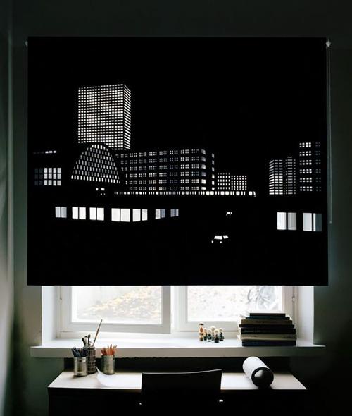 夜景のような景色のカーテンの画像(10枚目)