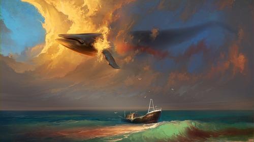 幻想的でドキドキする超巨大生物の壁紙!の画像(5枚目)