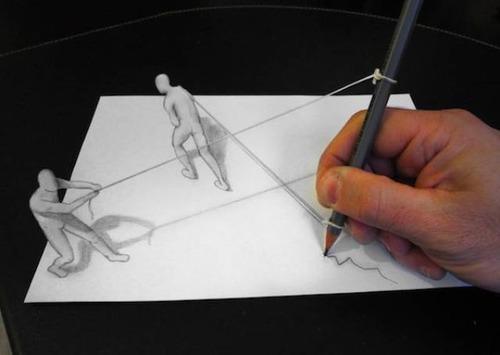 紙で作った3Dアートの画像(11枚目)