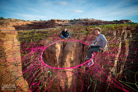 上空120m!断崖絶壁に設置された巨大なハンモック!の画像(6枚目)