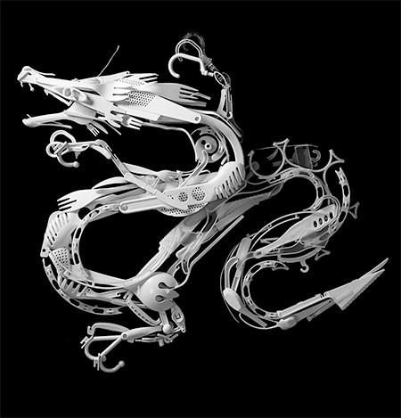 プラスチックのリサイクルで作った動物の画像(6枚目)