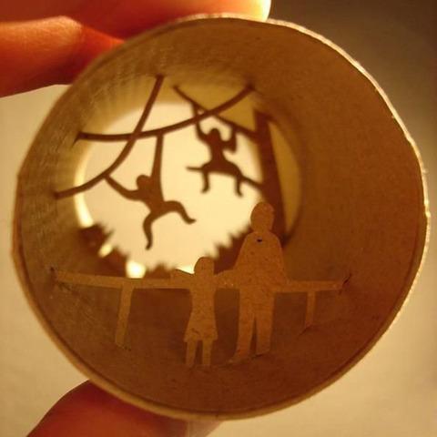 【面白アート】トイレットペーパーの芯で作る不思議な世界!の画像(10枚目)