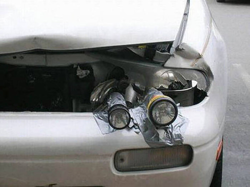 【画像】修理方法が驚異的に雑すぎて、凄いことになってる自動車の数々!!の画像(8枚目)
