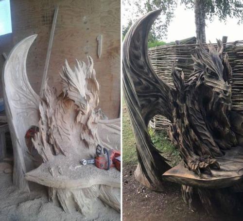 ドラゴンのベンチの画像(1枚目)