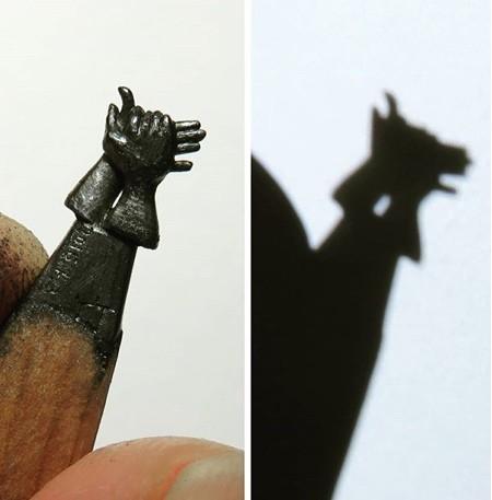 鉛筆の芯の彫刻14