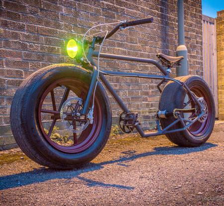 自動車のタイヤを履いた自転車の画像(5枚目)