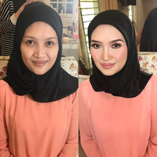 女性の化粧をする前と後の画像(28枚目)