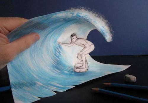 紙で作った3Dアートの画像(2枚目)