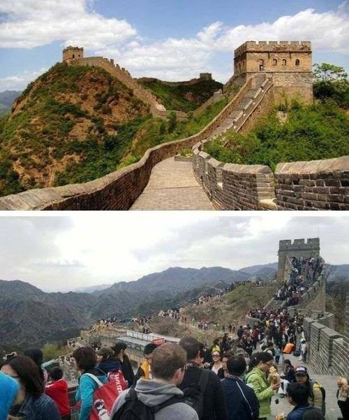 観光地のイメージ写真と比較の画像(1枚目)