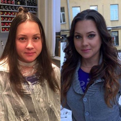 女性の化粧前、化粧後の画像の数々_21