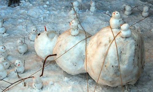 面白い雪だるまの画像(44枚目)