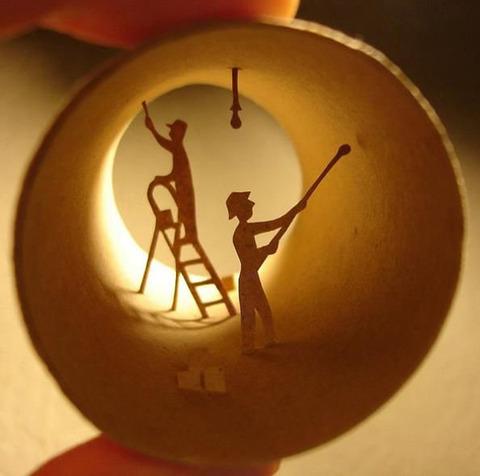 【面白アート】トイレットペーパーの芯で作る不思議な世界!の画像(11枚目)