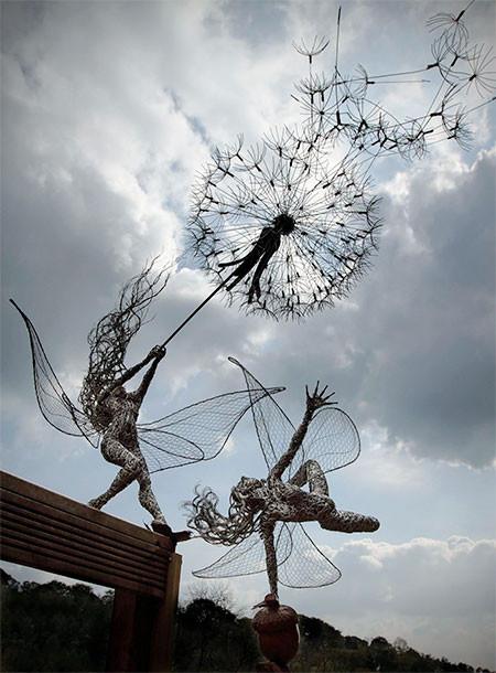 【画像】生きてるみたい!針金で再現された妖精が凄い!!の画像(9枚目)
