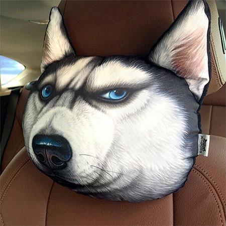 動物の顔の自動車用の枕の画像(9枚目)
