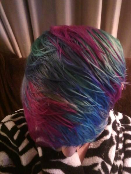 虹のような髪の毛の女の子の画像(29枚目)