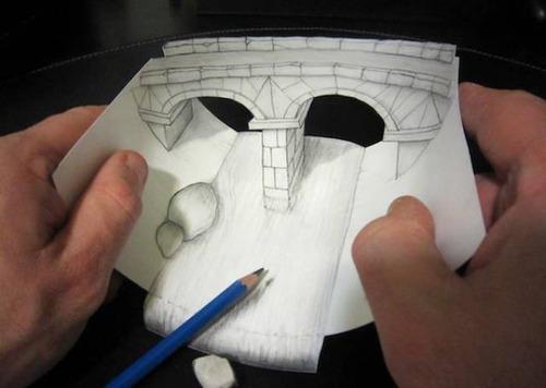 紙で作った3Dアートの画像(4枚目)