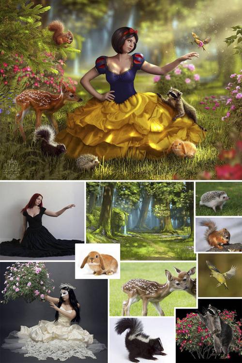 合成写真の素材をまとめた比較の画像(10枚目)