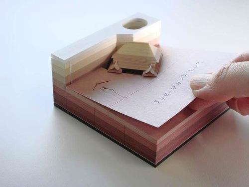 付箋紙を使うと出現するジオラマの画像(2枚目)