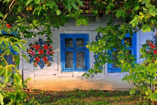 お花がプリントしてある可愛い家の画像(3枚目)