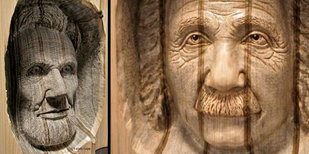 【画像】本の中に人の顔!本を使った彫刻のアートが凄い!!の画像(1枚目)