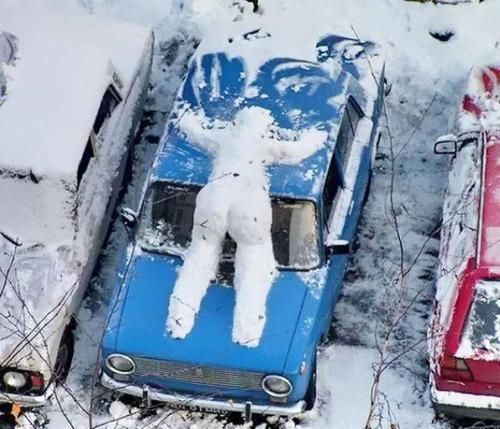 面白い雪だるまの画像(25枚目)