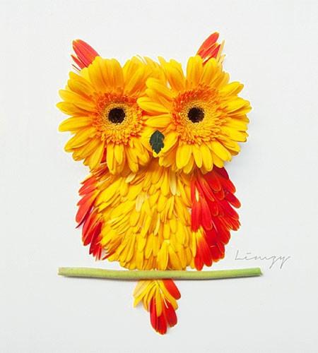 本物の花で描いたアートが華やかで癒される!!の画像(19枚目)