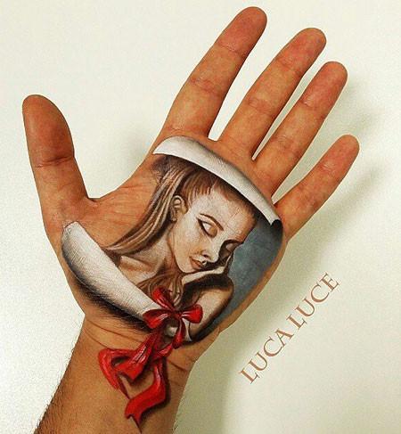 左手がオシャカになっちゃた!3Dアートですごい事になってる左手の画像の数々!!の画像(8枚目)