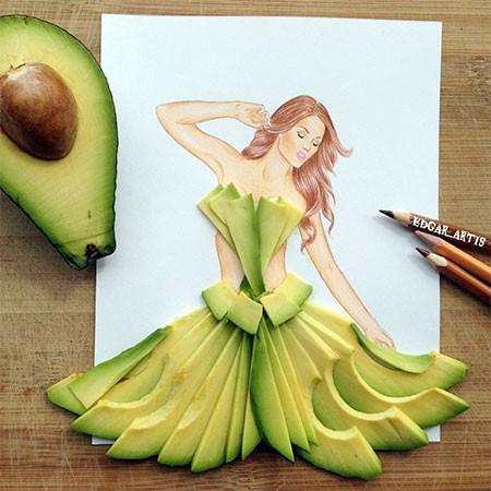 食べ物をドレスに見立てたイラストの画像(17枚目)
